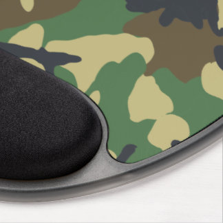 Woodland Camouflage pattern Gel Mousepad