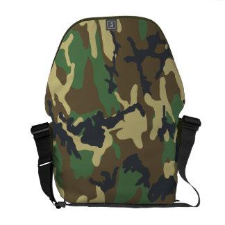 Woodland Camouflage pattern Messenger Bag