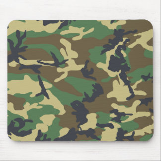 Woodland Camouflage pattern Mouse Pad