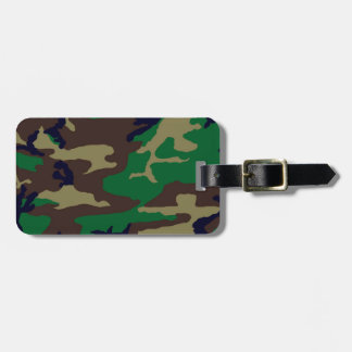 Woodland Camouflage Personalized Bag Tag