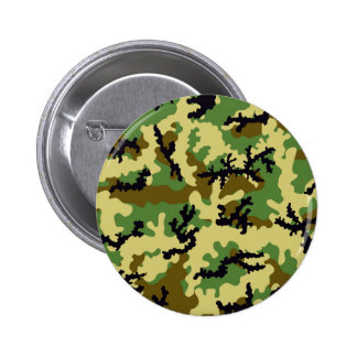 Woodland camouflage pinback button