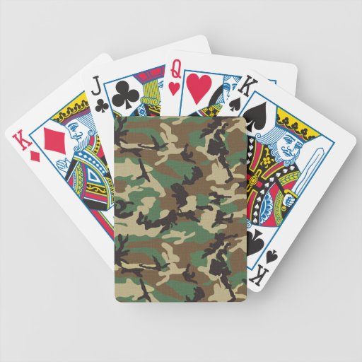 Woodland Camouflage Playing Cards