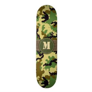 Woodland camouflage skateboard