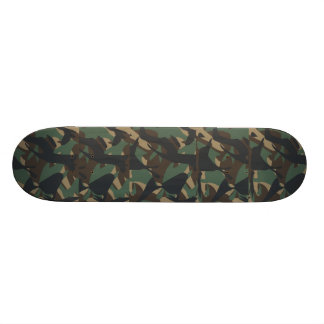 Woodland Camouflage Skateboard Deck