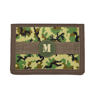 Woodland camouflage trifold wallet
