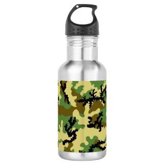 Woodland camouflage water bottle