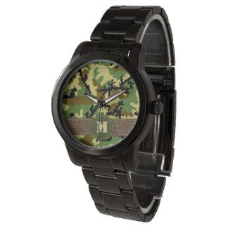 Woodland camouflage wristwatch