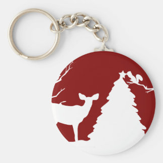 Woodland Christmas Celebration Keychain