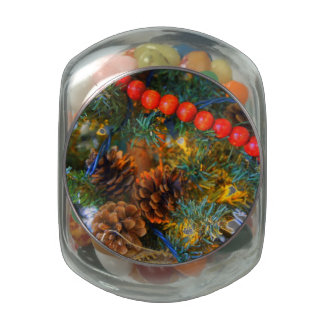Woodland Christmas Jelly Belly Candy Jars