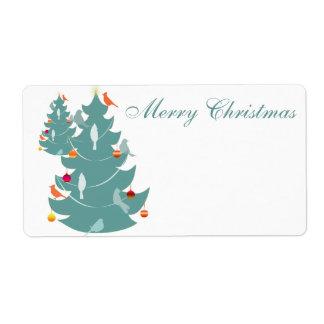 Woodland Christmas Custom Shipping Labels