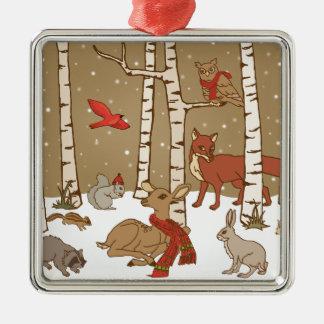 Woodland Christmas Metal Ornament