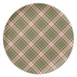 Woodland Christmas Plaid Plates