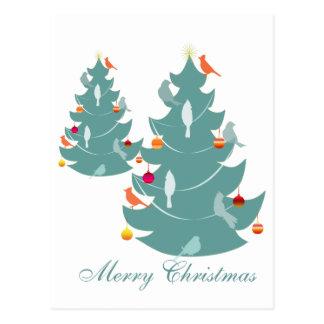 Woodland Christmas Postcard