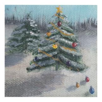 Woodland Christmas Tree Panel Wall Art