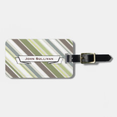Woodland Colors Nature Pattern Bag Tag at Zazzle