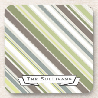 Woodland Colors Nature Pattern Drink Coasters
