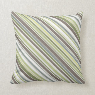 Woodland Colors Nature Pattern D Throw Pillow
