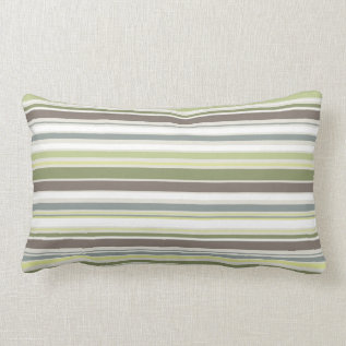 Woodland Colors Nature Pattern Lumbar Pillow at Zazzle