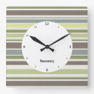 Woodland Colors Nature Pattern Wall Clock at Zazzle