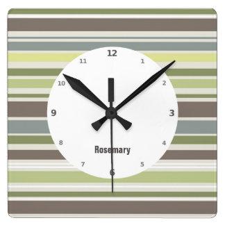 Woodland Colors Nature Pattern Wall Clock
