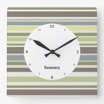 Woodland Colors Nature Pattern Wall Clock by DigitalDreambuilder at Zazzle