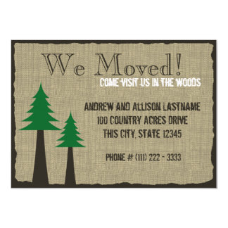 """Woodland Country New Home 4.5"""" X 6.25"""" Invitation Card"""