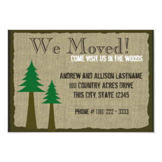 """Woodland Country New Home 3.5"""" X 5"""" Invitation Card"""