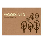 Woodland - Cream + Dark Brown on Cardboard Box Tex Large Business Cards (Pack Of 100)