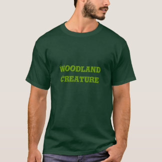 Woodland Creature. Green. T-Shirt