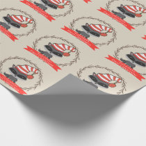 Woodland Creature Raccoon Baby's First Christmas Wrapping Paper