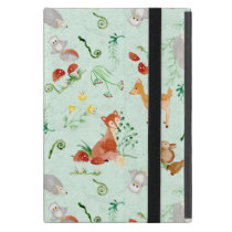 Woodland Creatures Animals Deer Fox Rabbit Owl Art iPad Mini Case