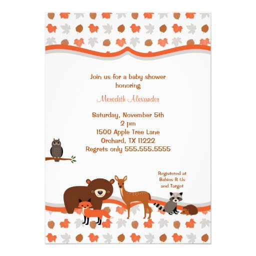 700 woodland baby shower invitations woodland baby shower
