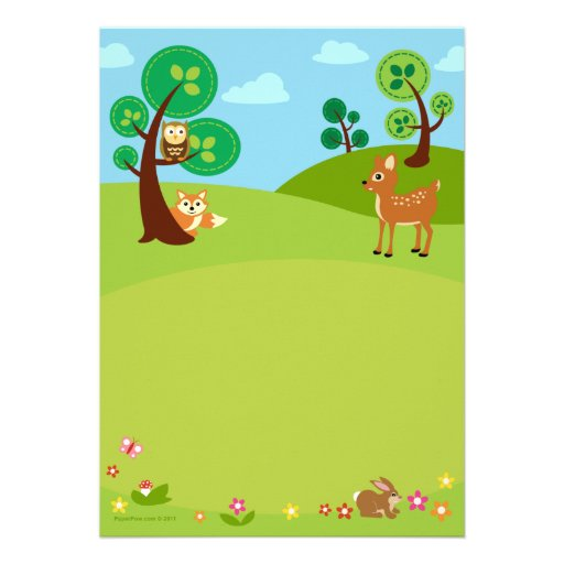 woodland creatures baby shower invitations 5 x 7 invitation card
