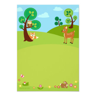 Woodland Creatures Baby Shower Invitations