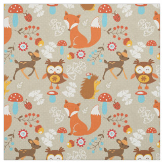 Woodland Creatures Fabric
