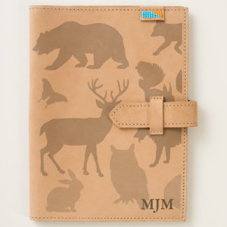 Woodland Creatures Monogram Leather Journal