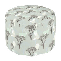 Woodland Creatures Pattern Pouf
