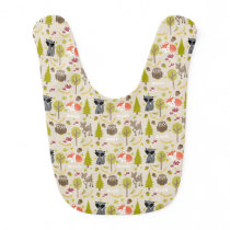 Woodland Creatures Personalized Baby Bib