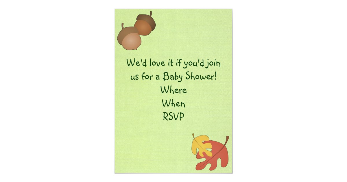 woodland critters baby shower invitation zazzle
