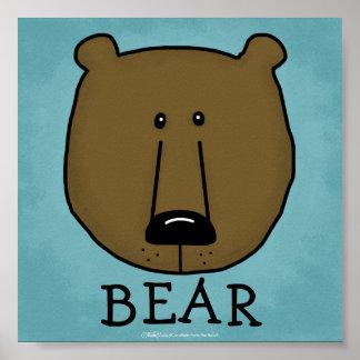 Woodland Critters-Best Forest Friends-Bear Poster