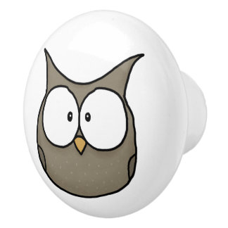 Woodland Critters-Best Forest Friends-Owl Ceramic Knob