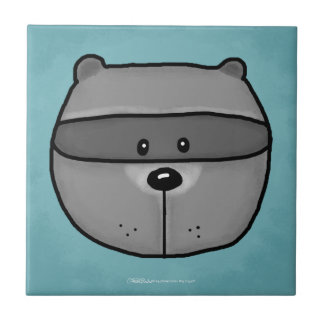 Woodland Critters-Best Forest Friends-Raccoon Ceramic Tile