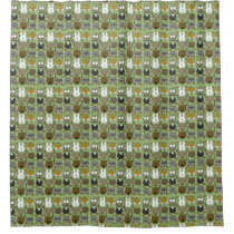 Woodland Critters-Best Forest Friends Shower Curtain