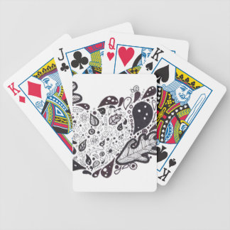 Woodland critters Pen and Ink Heart Bicycle Playing Cards