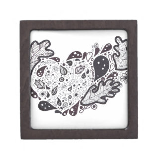 Woodland critters Pen and Ink Heart Gift Box