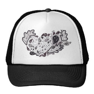Woodland critters Pen and Ink Heart Trucker Hat