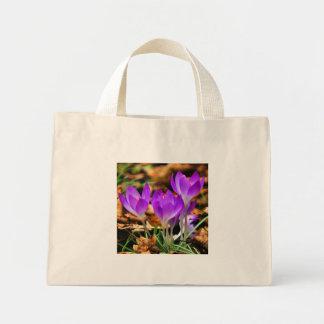 Woodland Crocuses Mini Tote Bag