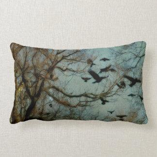 Woodland Crows Lumbar Pillow