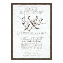 Woodland Deer and Birch Gender Reveal Card