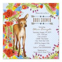 Woodland Deer Baby Shower Card